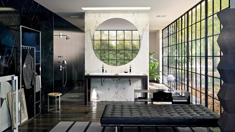 Inloopdouche Met Kraan : Ruime designbadkamer met inloopdouche van axor citterio wat een
