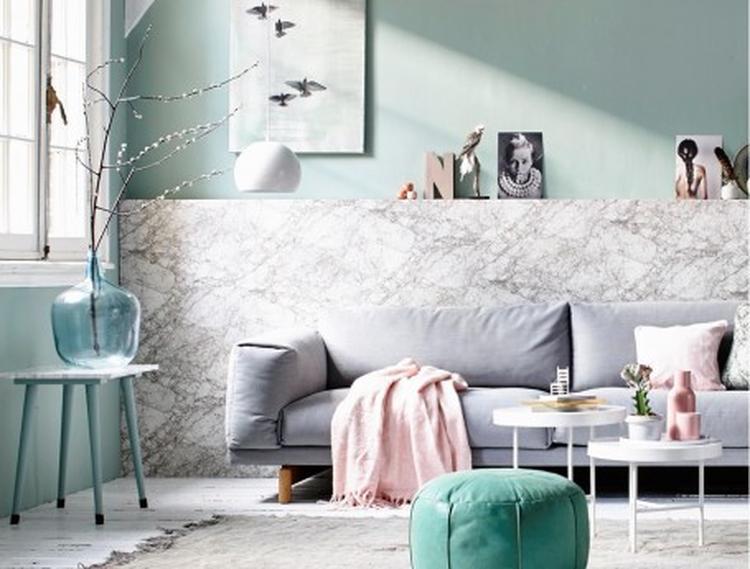 Mooie inrichting woonkamer met pasteltinten.. Foto geplaatst door ...