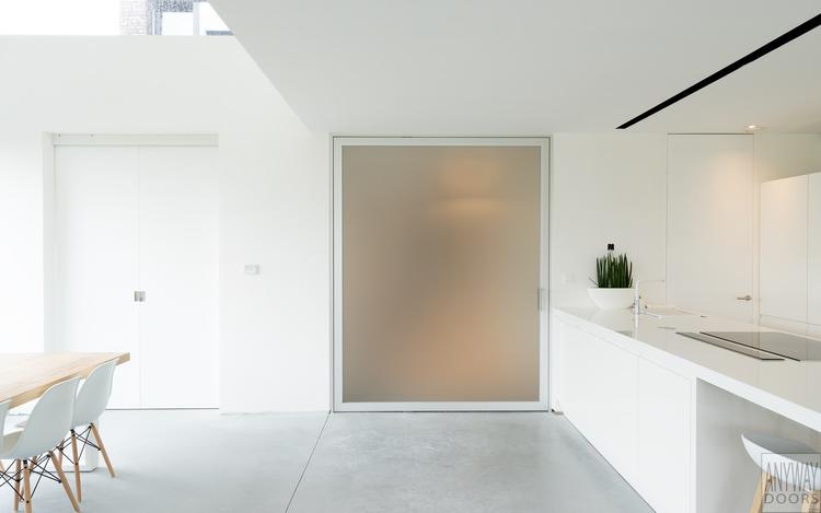 Grote glazen taatsdeur woonkamer op maat gemaakt door Anyway Doors ...