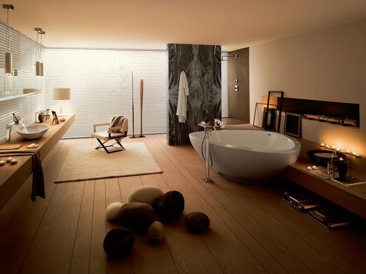 Spa Badkamer Ontwerp : Axor massaud de natuurlijke badkamer deze badkamer lijkt wel een