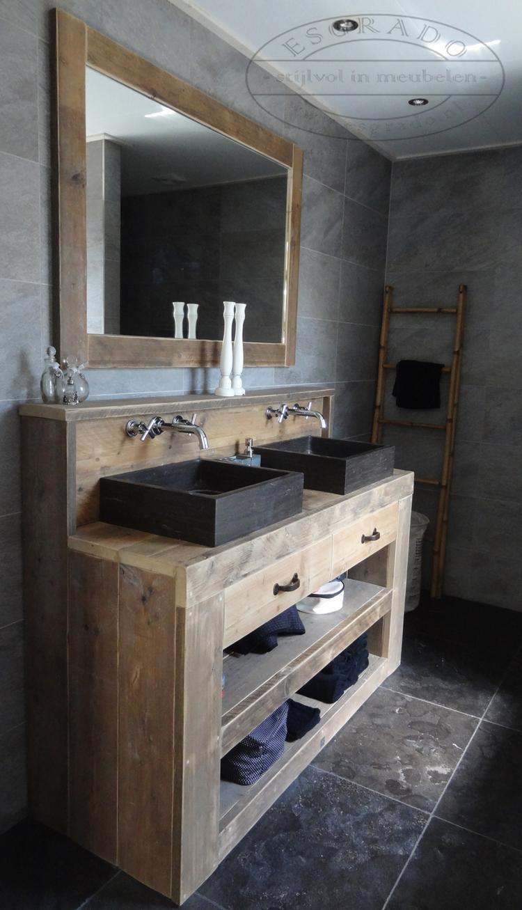 Badkamermeubel plank - Oude keuken wastafel ...