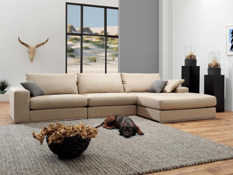 Design Bank Met Chaise Longue.Landelijke Lounge Bank Met Extra Brede Chaise Longue Nu Voor