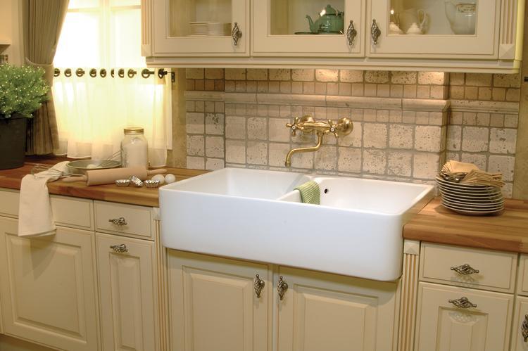 Werkblad Keuken Hout : Keuken met massief houten werkblad van dekker klassieke keuken