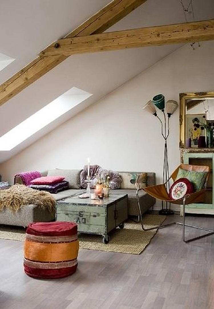 Bohemian chic industrieel interieur indsutrial interior woonkamer ...