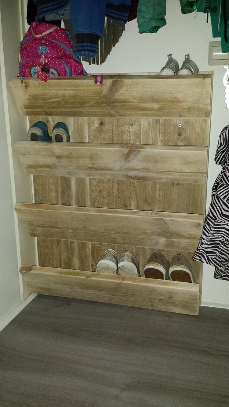 Schoenenkast 15 Cm Diep.Schoenenkast Wand Gemaakt Van Gebruikt Steigerhout Simpel Model