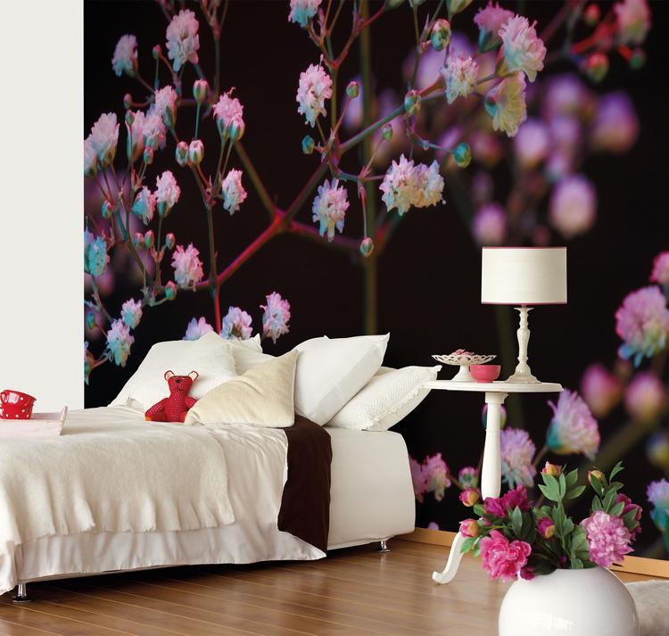 Romantische slaapkamer met fotobehang. Heb je liever een romantische ...
