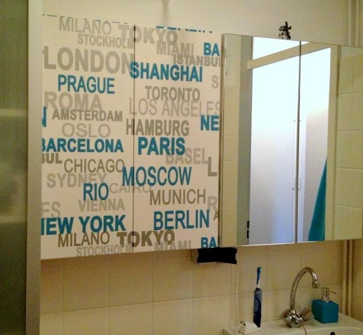 Behang in de badkamer/wc kan heel goed zolang je het maar waterdicht ...