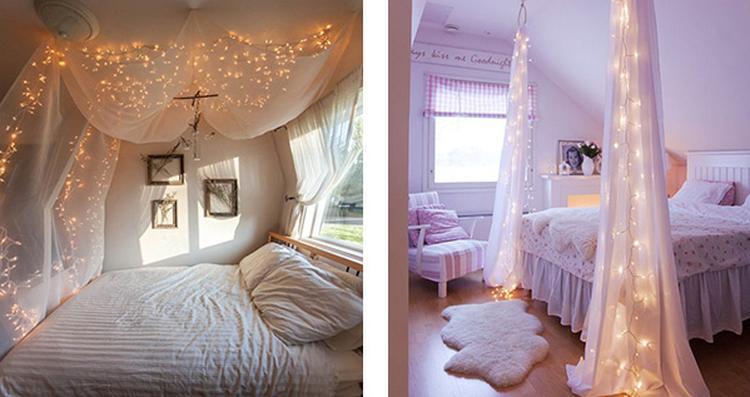Hemelbed In Slaapkamer : Hemelbed in minimalistische witte en grijze slaapkamer met