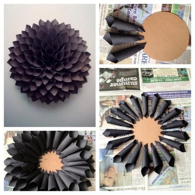 Zeer eenvoudig een wand decoratie maken ;). Foto geplaatst door ...