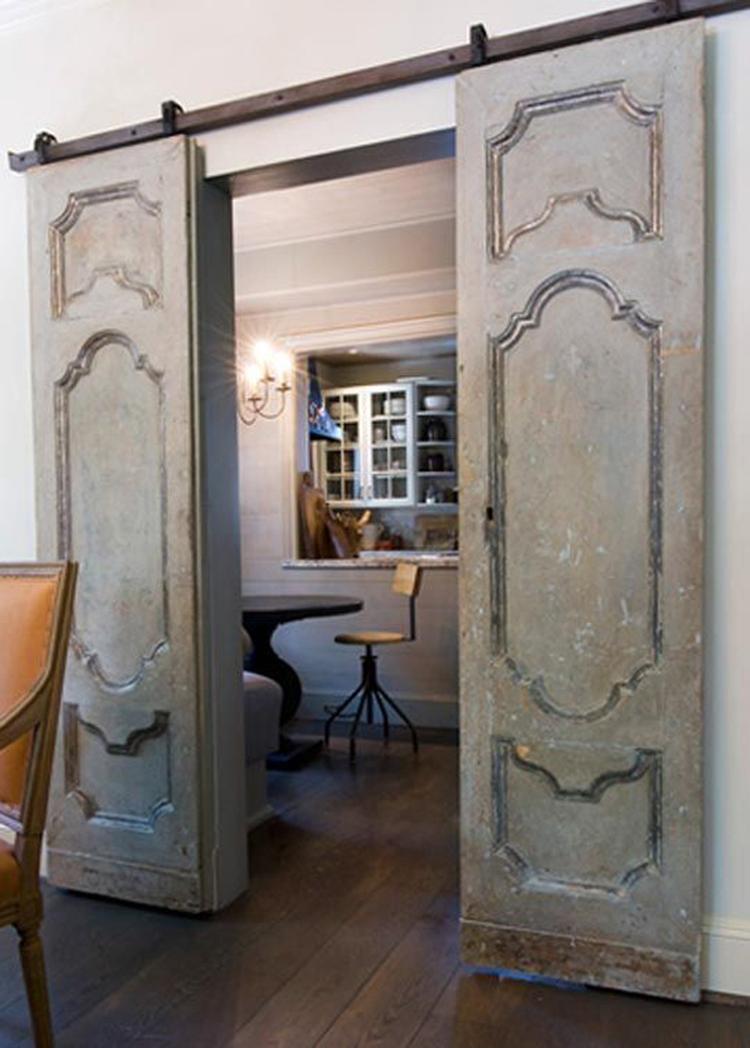 Geliefde Prachtige oude houten schuifdeuren, echt een vintage look.. Foto  XE84