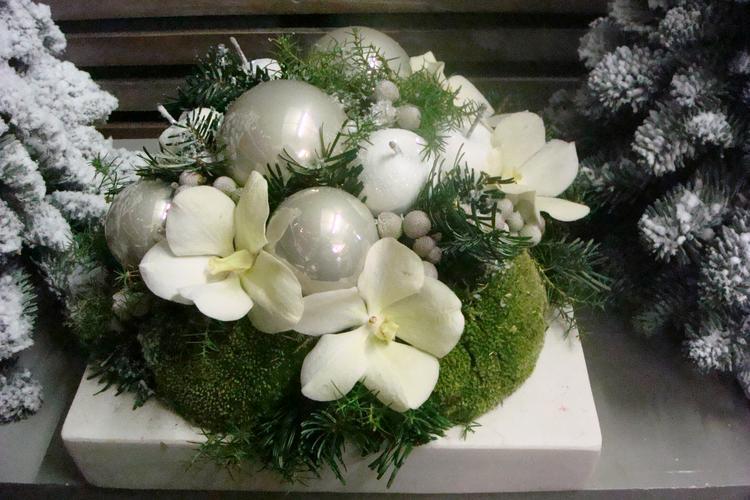kerst met bloemen. foto geplaatst door hobbyfreek op welke.nl