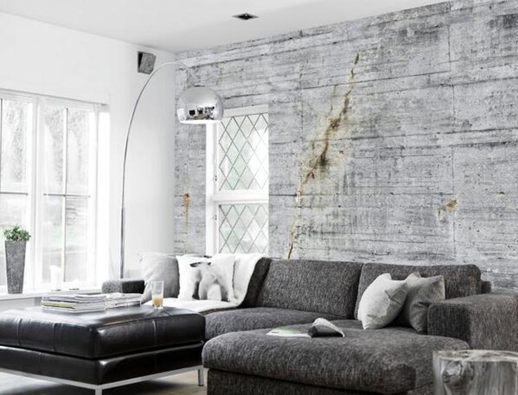 Fabulous Stoer fotobehang met print van een oude betonnen muur. Geeft de  EJ22