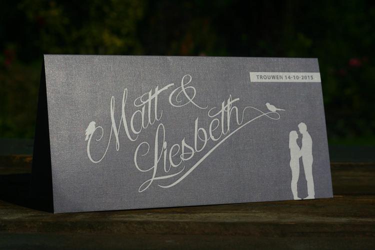 Trouwkaart Matt Amp Liesbeth Uniek Origineel Trouwkaartje