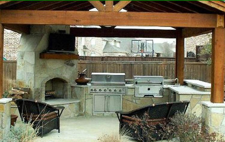 Fabulous Buitenkeuken met buiten openhaard. Foto geplaatst door s-may op  ES15