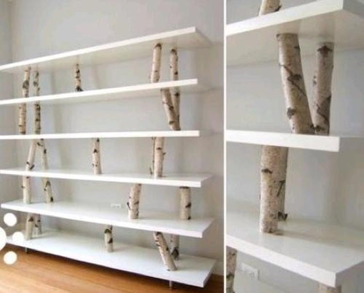 hoe zelf boekenkast maken] - 100 images - boekenkast ikea, behang op ...