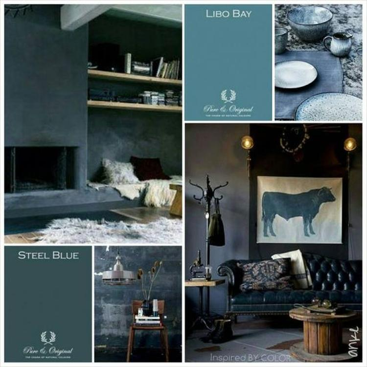 Interieur blog - Pure & Original - blauw interieur. Foto ...