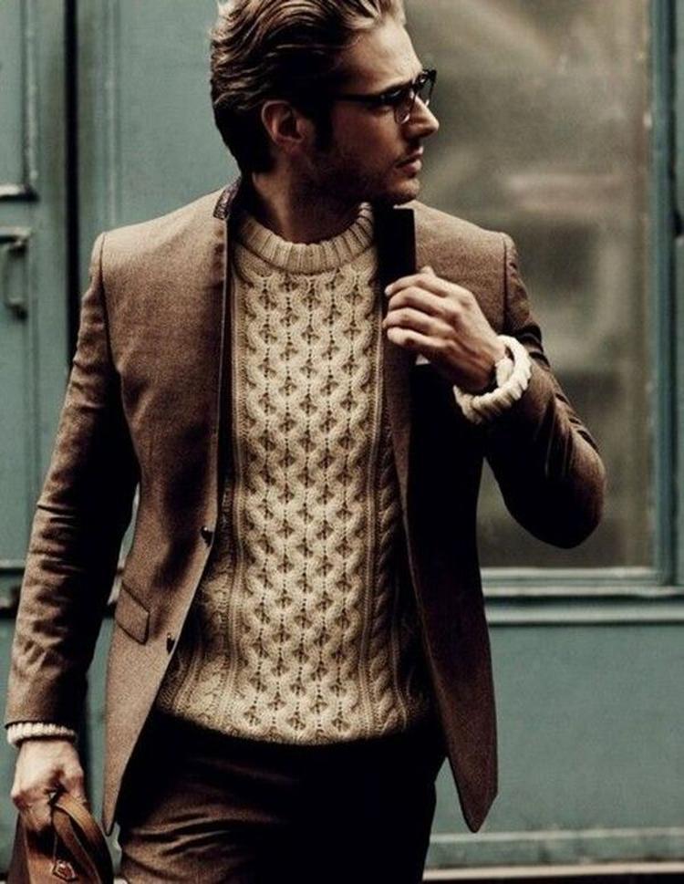 Stijlvolle Heren Outfit In Bruin Een Net Bruin Pak In Combinatie