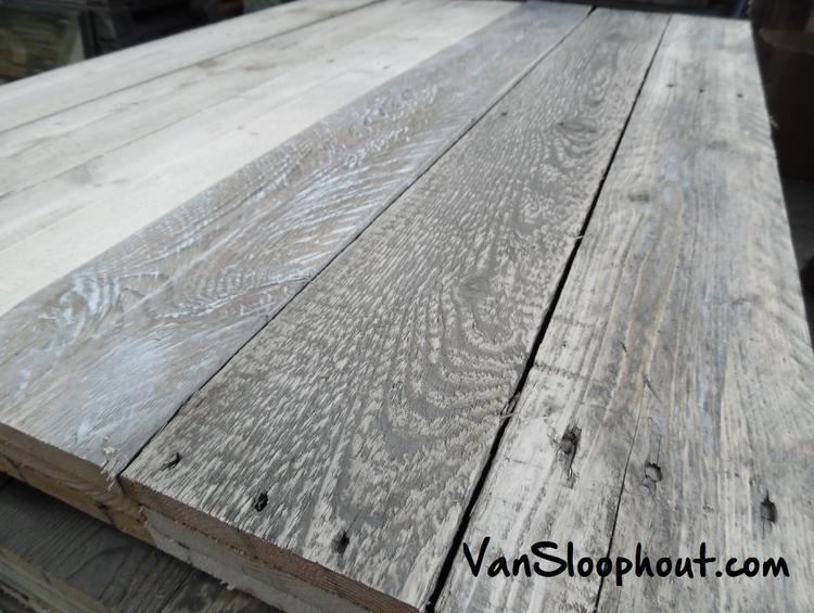 Geschuurde Sloophouten Planken Te Gebruiken Voor Een Stoere