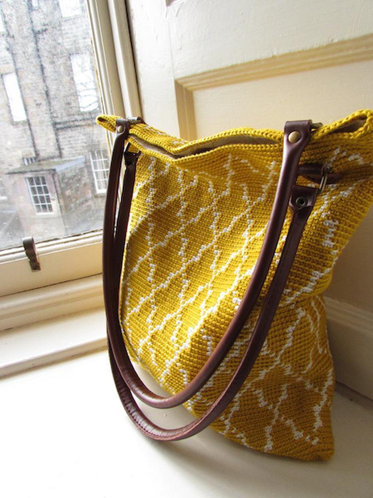 Prachtig Tas Tapestry Gehaakte Tas Gratis Haakpatroon Foto