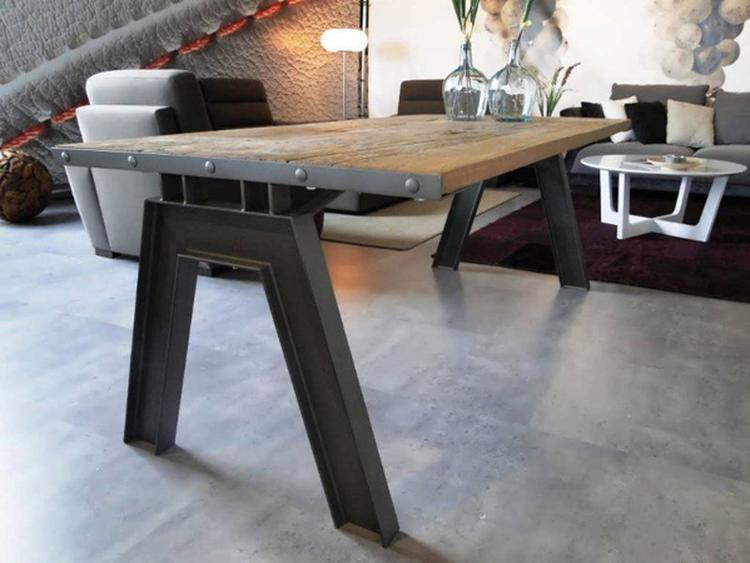 Tafel betonlook geven affordable eettafel ulodgeu van gerecycled