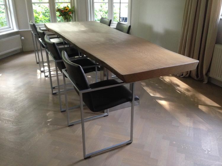 Tafel Eiken 300 Cm.Boomstam Tafel Eiken Een Deel 300 Cm Lang Kabna Design