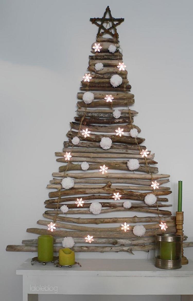 DIY: leuke alternatieve kerstboom die weinig ruimte inneemt. Maak ...