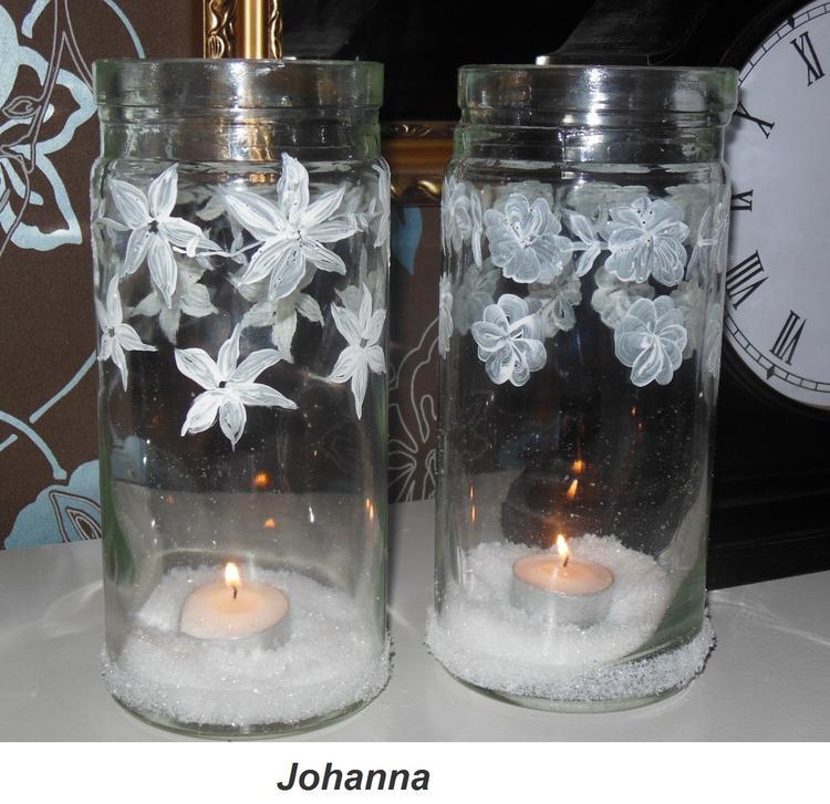 Favoriete Glazen potten beschilderen met acrylverf ,leuk om te doen . Foto  @FM16