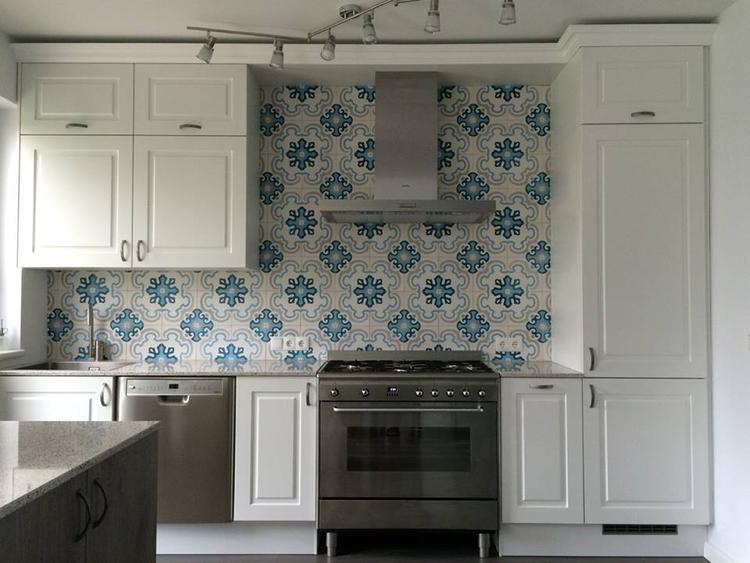 Achterwand keuken grote tegels ~ beste ideen over huis en interieur