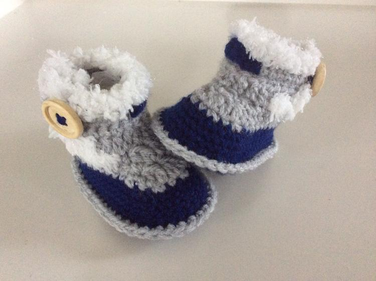 Stoere Baby Slofjes Op Uggs Geinspireerd Tweekleurig Sluiting Met