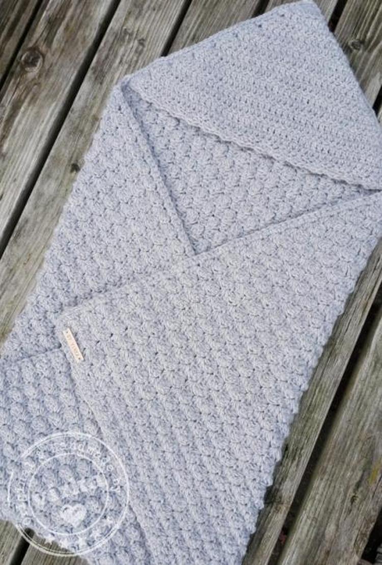 Handgemaakte Gehaakte Baby Omslagdoek Lekker Voor De Wintermaanden