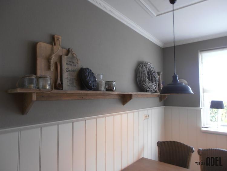 Wandplank Keuken Landelijk.Wandplank Van Oud Hout Op Maat Gemaakt Foto Geplaatst Door