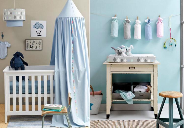 inspiratie voor een babykamer. met kleuren blauw en groen. mooi en, Deco ideeën