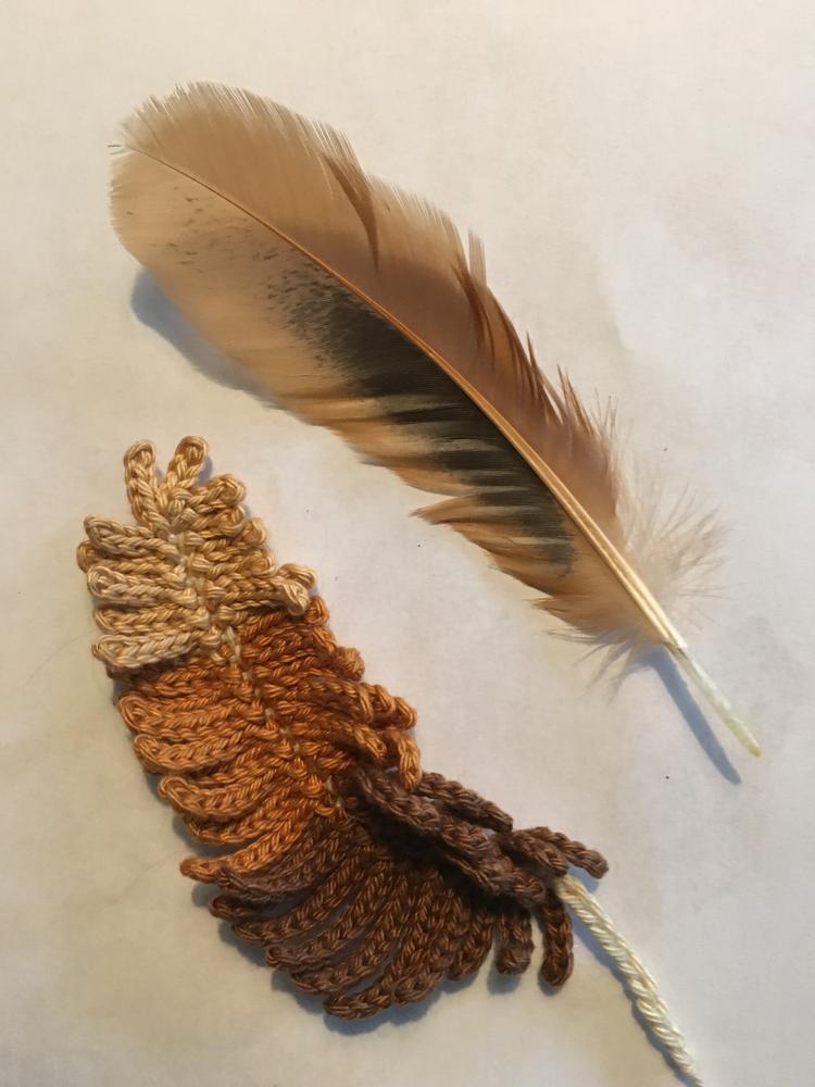 Veertjes Haken Crochet Feather Gratis Patroon Van Inhaken Op Het