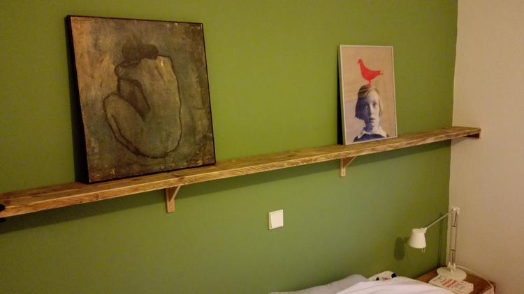 Favoriete Steigerhouten plank boven het bed.... Foto geplaatst door &SY56