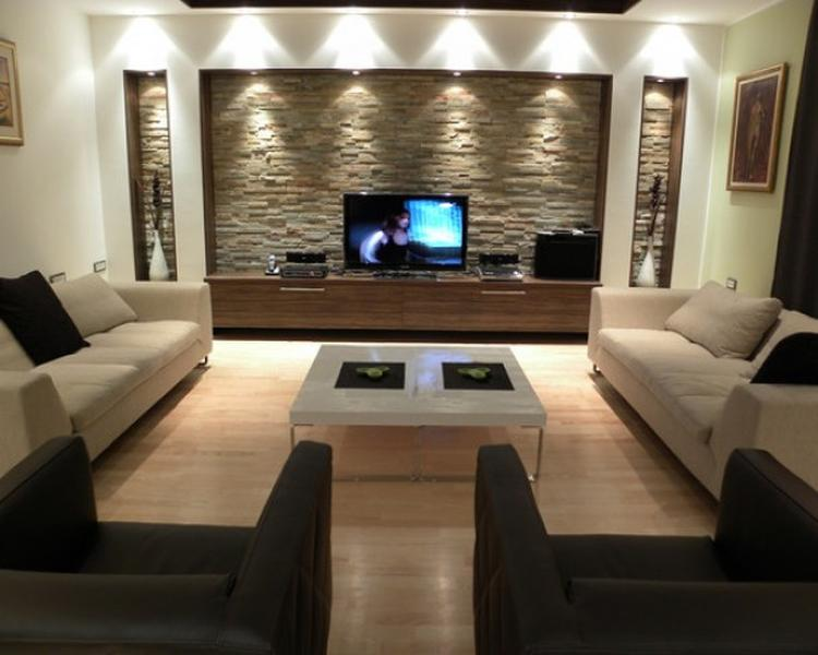 steenstrips, verlichting, woonkamer. Foto geplaatst door cloeck op ...