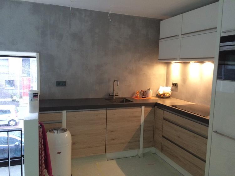 Beton Cire Keuken : Beton cire keuken beton cïré beton ciré keuken voor een