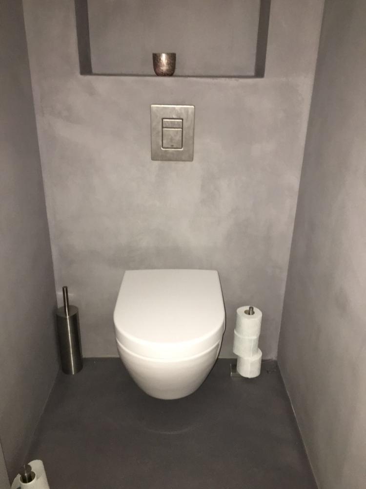 Genoeg Toilet voorzien van Beton Cire door Beton Cire Centrum. Met @ZJ47