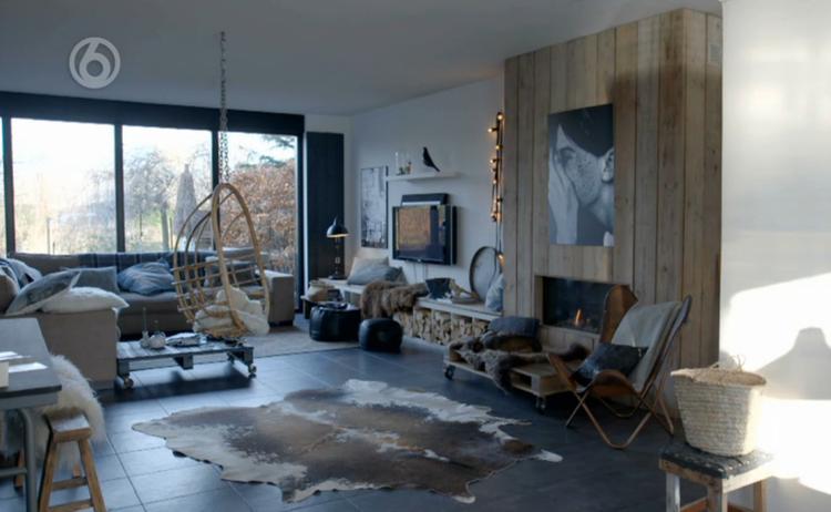 Vt wonen woonkamer openhaard for Industrieel landelijk interieur