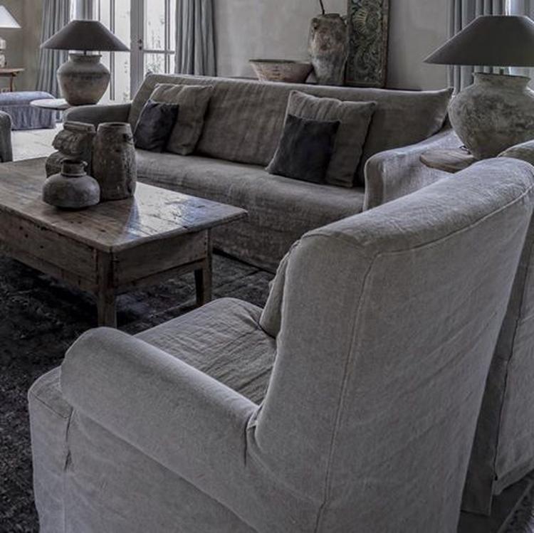 stunning fauteuil bank en kruiklampen van hoffz op de