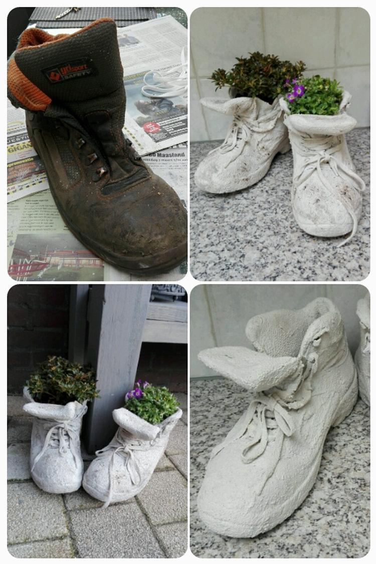 Beroemd Oude schoenen opknappen met muurvuller van Action.. Foto geplaatst  QO12