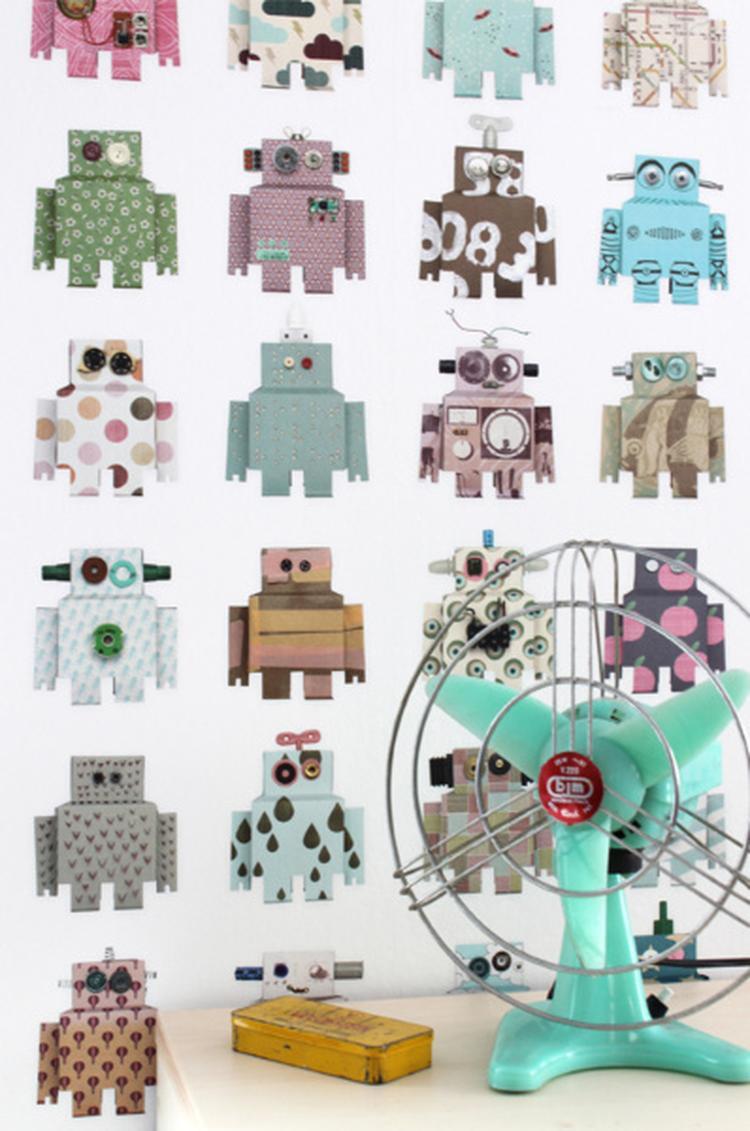 Leuk Behang Kinderkamer.Robotbehang Van Studio Ditte Voor De Kinderkamer Wat Een Geweldig