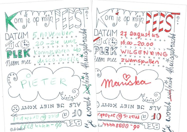 Voorkeur Bedwelming Zelf Uitnodigingen Maken En Printen #USU01 - AgnesWaMu @KW21