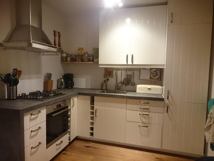 Keuken Industrieel Ikea : Keuken van ikea blad zelfgemaakt van beton cire foto geplaatst