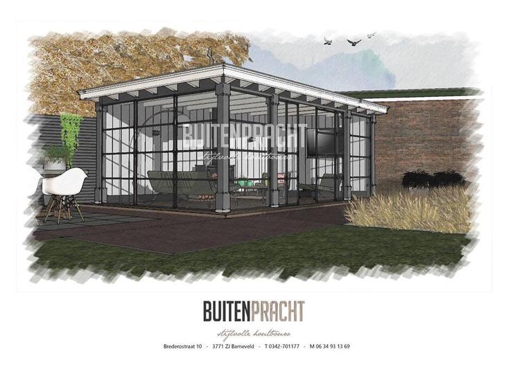 Zwarte Stalen Kozijnen : Ontwerp tuinkamer met zwarte stalen kozijnen door buitenpracht