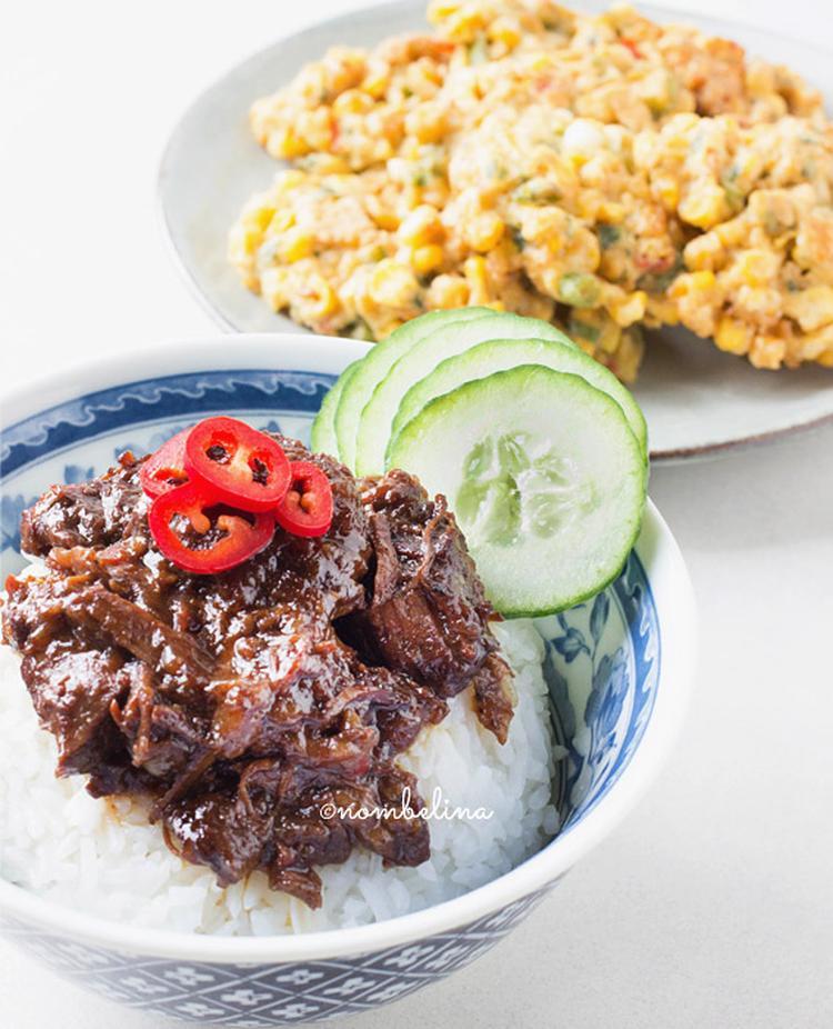 indisch stoofvlees: daging smoor. foto geplaatst door peejeej op