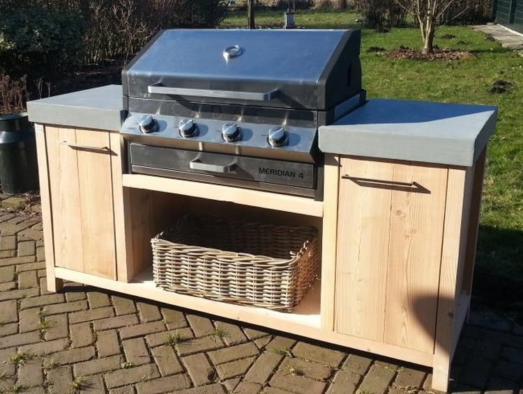 Houten Buiten Keuken : Lariks houten buitenkeuken in xl formaat foto geplaatst door