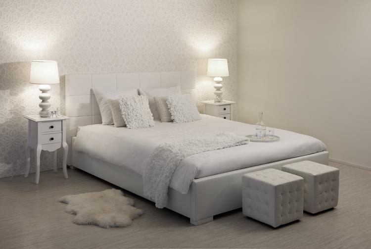 stijvolle slaapkamer met poseison modena waterbed als je op zoek