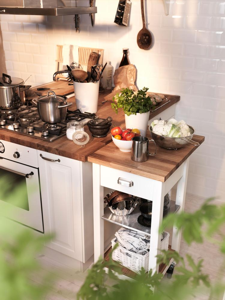 Verrijdbare roltafel Stenstorp voor de keuken. Deze handige ...