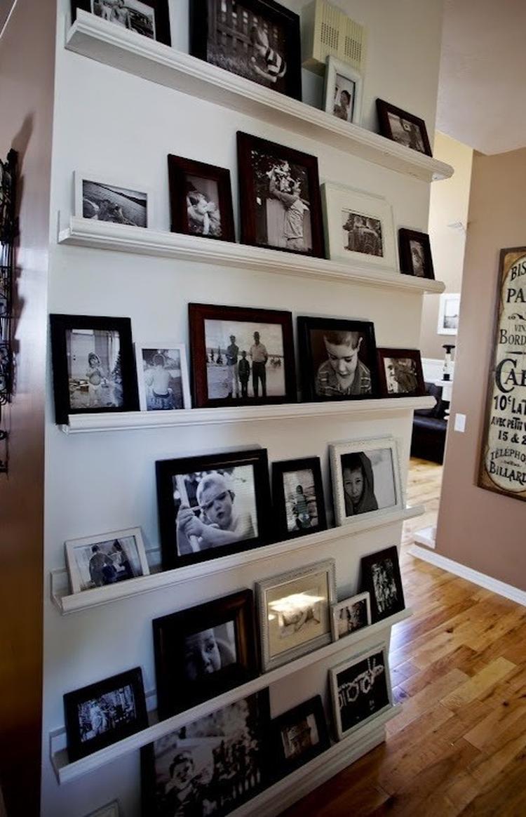 Foto Wand fotowand leuk voor ee kleine wand in de woonkamer foto geplaatst