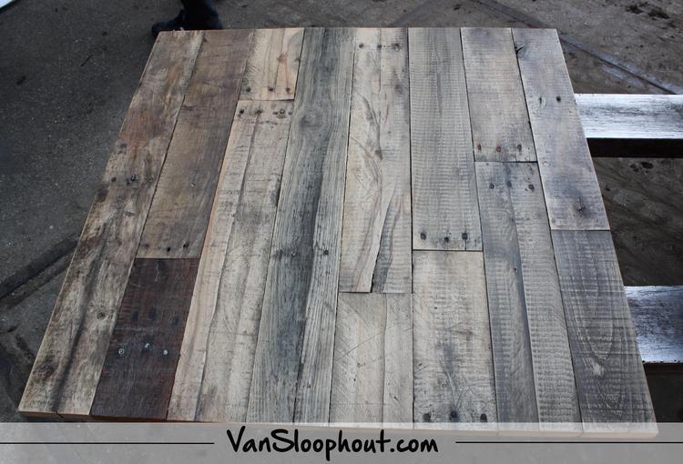Een Sloophout Interieur : Eiken sloophout tafelblad. #sloophout #tafel #wonen #interieur